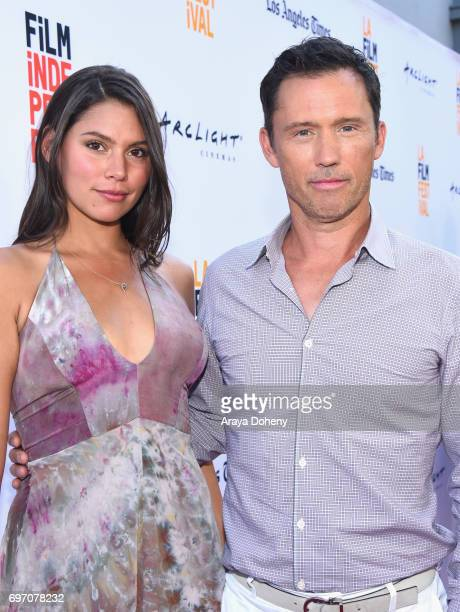 """Michelle Woods and Jeffrey Donovan attend the """"Shot Caller"""" Premiere during the 2017 Los Angeles Film Festival at Arclight Cinemas Culver City on..."""