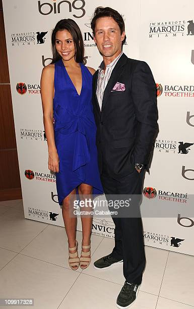 Michelle Woods and Jeffrey Donovan attends Ocean Drive Magazine Eighteenth Anniversary event at JW Marriott on March 9 2011 in Miami Florida