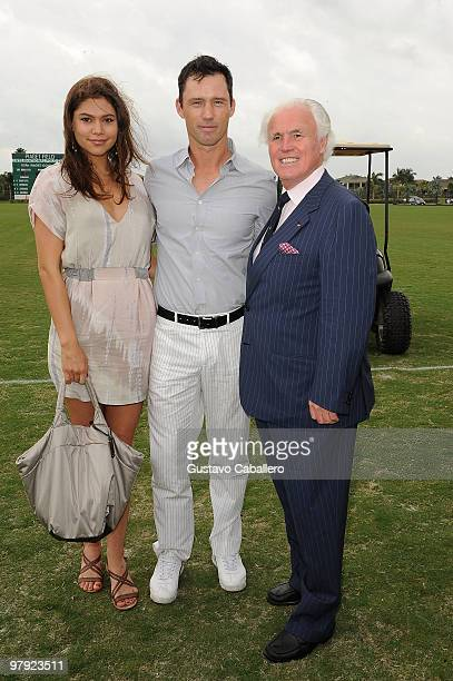 Michelle Woods, Jeffrey Donovan and Mr. Yves Piaget attends the Piaget Gold Cup at the Palm Beach International Polo Club on March 21, 2010 in...