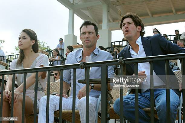 Michelle Woods, Jeffrey Donovan and Nic Roldan attend the Piaget Gold Cup at the Palm Beach International Polo Club on March 21, 2010 in Wellington,...