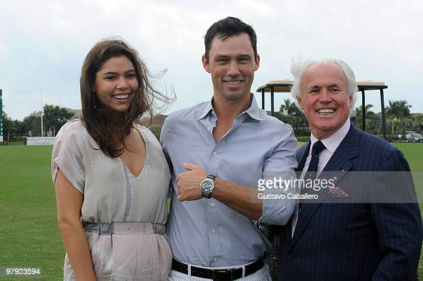 Michelle Woods, Jeffrey Donovan, and Yves Piaget attend the Piaget Gold Cup at the Palm Beach International Polo Club on March 21, 2010 in...