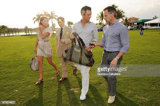 Michelle Woods Larry Boland Jeffrey Donovan and Jim Kloiber attend the Piaget Gold Cup at the Palm Beach International Polo Club on March 21 2010 in...