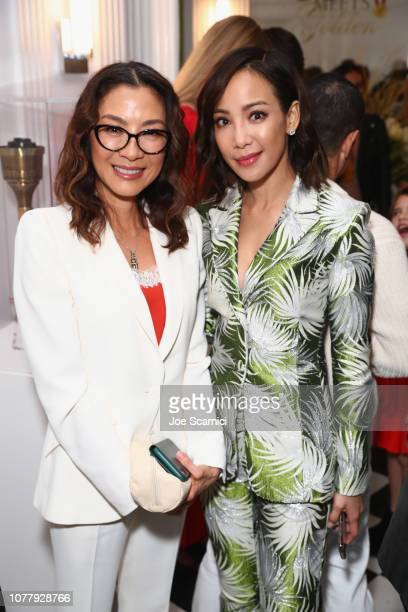 Michelle Yeoh and Fiona Xie attend The 6th Annual Gold Meets Golden Brunch hosted by Nicole Kidman and Nadia Comaneci and presented by CocaCola at...