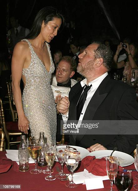 Michelle Yeoh and Harvey Weinstein at amfAR's Cinema Against AIDS event presented by Bold Films the M*A*C AIDS Fund and The Weinstein Company to...