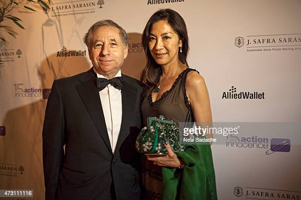 Michelle Yeoh and Jean Todt attend the Soiree De Gala Action Innocence at Hotel Intercontinental on May 12 2015 in Geneva Switzerland