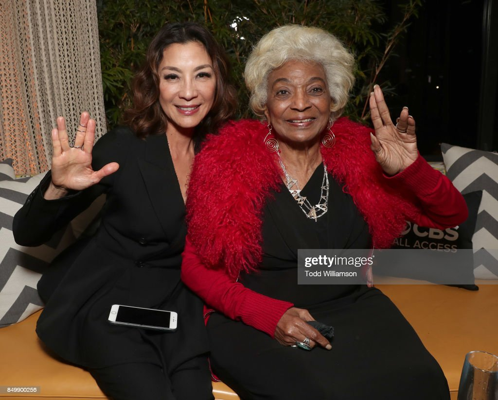 Michelle Yeoh and Nichelle Nichols attend the after party for the premiere of CBS's 'Star Trek: Discovery' at the Dream Hotel on September 19, 2017 in Los Angeles, California.