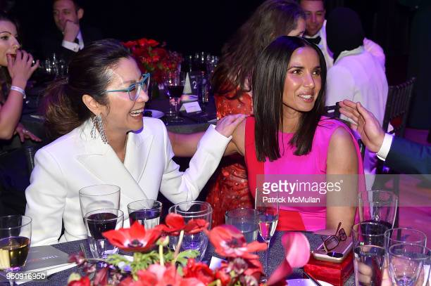 Michelle Yeoh and Padma Lakshmi attend the 2018 TIME 100 Gala at Jazz at Lincoln Center on April 24 2018 in New York City