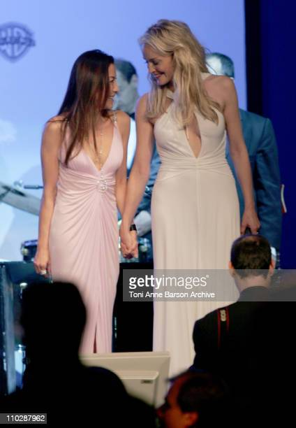 Michelle Yeoh and Sharon Stone during amfAR's Cinema Against AIDS Benefit in Cannes, Presented by Bold Films, Palisades Pictures and The Weinstein...