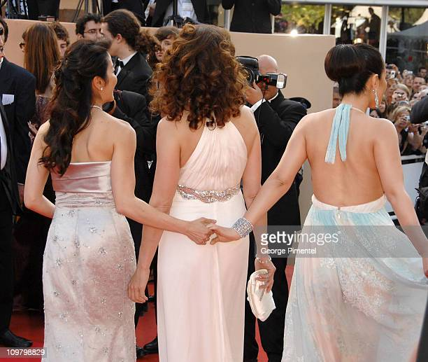 Michelle Yeoh Andie MacDowell and Gong Li during 2007 Cannes Film Festival 'Chacun Son Cinema' All Directors Premiere at Palais des Festival in...
