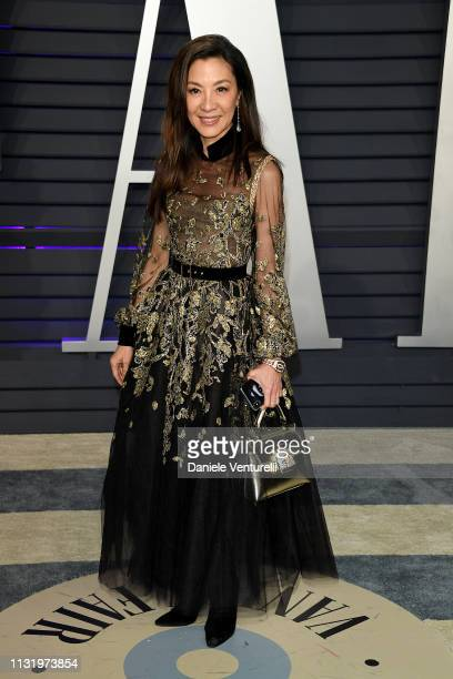 Michelle Yeoh attends 2019 Vanity Fair Oscar Party Hosted By Radhika Jones Arrivals at Wallis Annenberg Center for the Performing Arts on February 24...