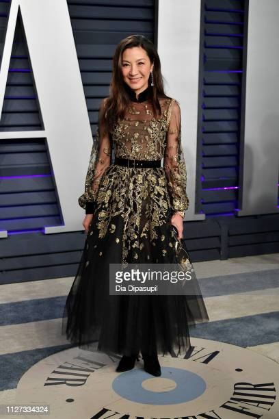 Michelle Yeoh attends the 2019 Vanity Fair Oscar Party hosted by Radhika Jones at Wallis Annenberg Center for the Performing Arts on February 24 2019...