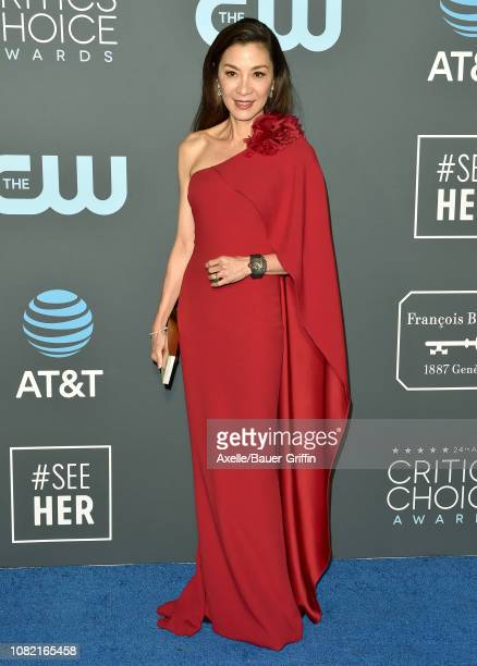 Michelle Yeoh attends the 24th annual Critics' Choice Awards at Barker Hangar on January 13 2019 in Santa Monica California