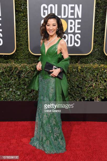 Michelle Yeoh attends the 76th Annual Golden Globe Awards at The Beverly Hilton Hotel on January 6 2019 in Beverly Hills California