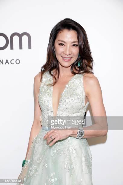 Michelle Yeoh attends the amfAR Gala Hong Kong 2019 at the Rosewood Hong Kong on March 25 2019 in Hong Kong Hong Kong