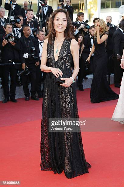 Michelle Yeoh attends the Julieta premiere during the 69th annual Cannes Film Festival at the Palais des Festivals on May 17 2016 in Cannes France