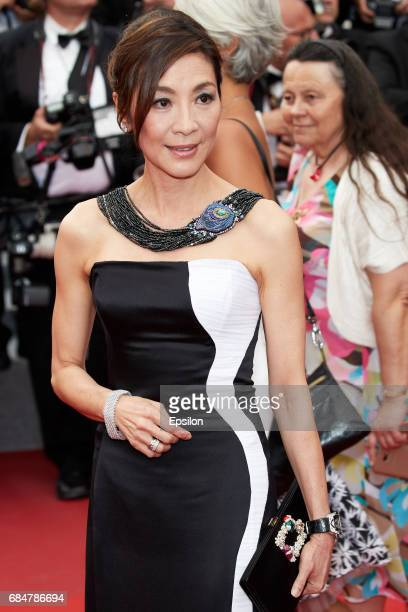 Michelle Yeoh attends the 'Loveless ' premiere during the 70th annual Cannes Film Festival at Palais des Festivals on May 18 2017 in Cannes France