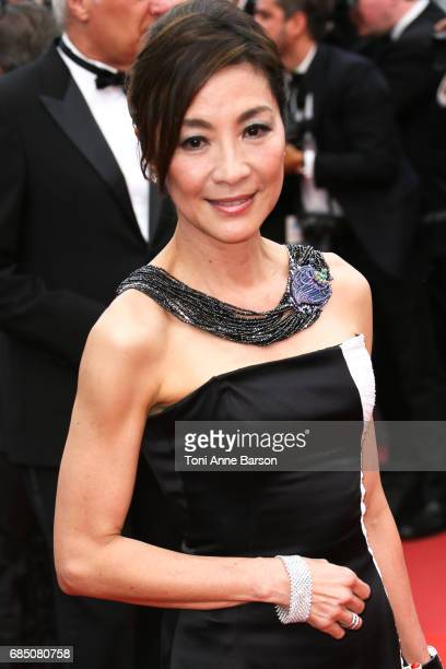 Michelle Yeoh attends the 'Nelyobov ' screening during the 70th annual Cannes Film Festival at Palais des Festivals on May 18 2017 in Cannes France