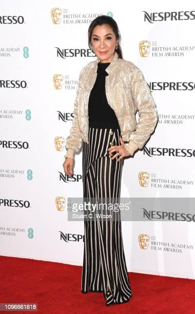 Michelle Yeoh attends the Nespresso British Academy Film Awards nominees party at Kensington Palace on February 9 2019 in London England