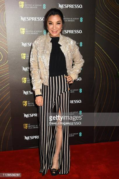 Michelle Yeoh attends the Nespresso British Academy Film Awards nominees party at Kensington Palace on February 09 2019 in London England