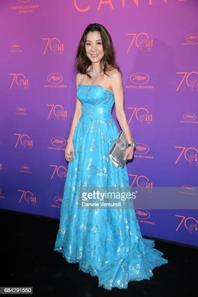 Michelle Yeoh attends the Opening Gala dinner during the 70th annual Cannes Film Festival at Palais des Festivals on May 17 2017 in Cannes France