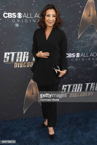 Michelle Yeoh attends the premiere of CBS's 'Star Trek Discovery' at The Cinerama Dome on September 19 2017 in Los Angeles California