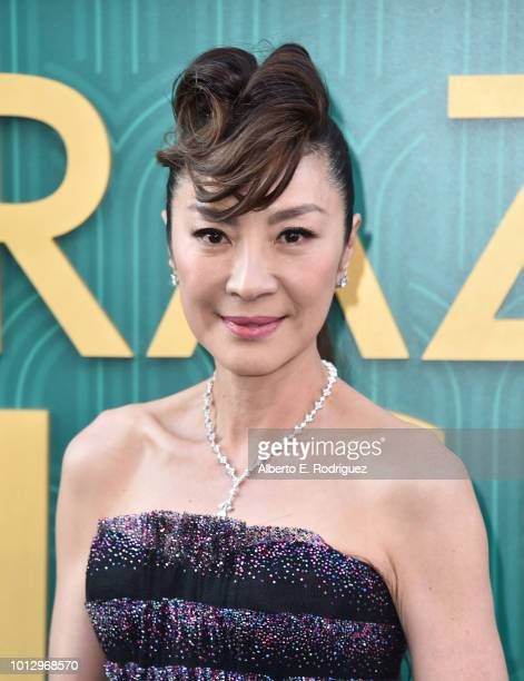 Michelle Yeoh attends the premiere of Warner Bros Pictures' Crazy Rich Asiaans at TCL Chinese Theatre IMAX on August 7 2018 in Hollywood California