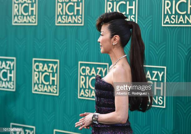 """Michelle Yeoh attends the premiere of Warner Bros. Pictures' """"Crazy Rich Asiaans"""" at TCL Chinese Theatre IMAX on August 7, 2018 in Hollywood,..."""