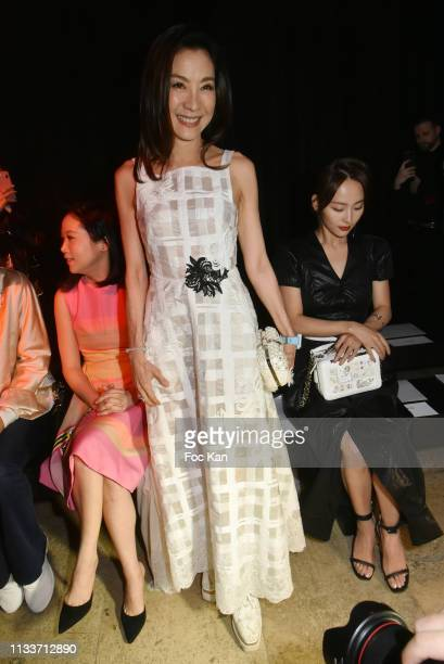 Michelle Yeoh attends the Schiatzy Chen show as part of the Paris Fashion Week Womenswear Fall/Winter 2019/2020 on March 04, 2019 in Paris, France.