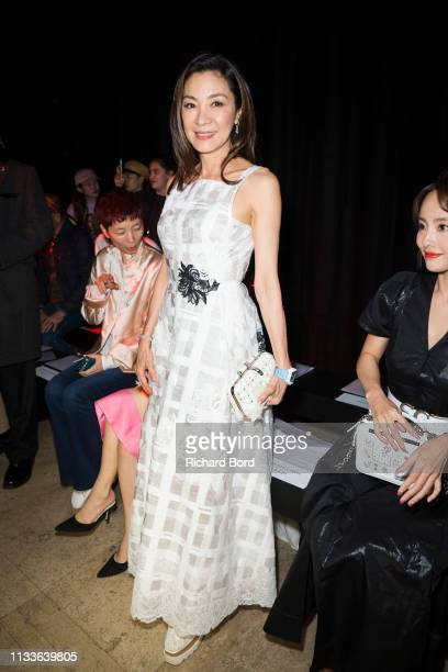 Michelle Yeoh attends the Shiatzy Chen show as part of the Paris Fashion Week Womenswear Fall/Winter 2019/2020 on March 04 2019 in Paris France