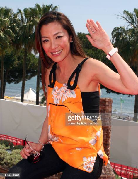 Michelle Yeoh during 2006 Cannes Film Festival Michelle Yeoh and Marie Gillain Visit TMC in Cannes France