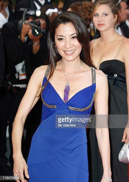 Michelle Yeoh during 2007 Cannes Film Festival A Mighty Heart Premiere Arrivals at Palais des Festivals in Cannes France