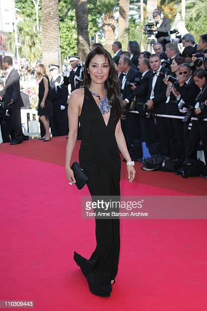 Michelle Yeoh during 2007 Cannes Film Festival Palme D'Or Arrivals at Palais des Festivals in Cannes France