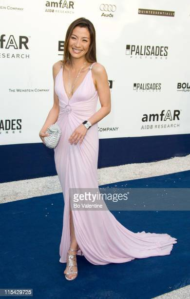 Michelle Yeoh during amfAR's Cinema Against AIDS Benefit in Cannes Presented by Bold Films Palisades Pictures and The Weinstein Company Arrivals at...