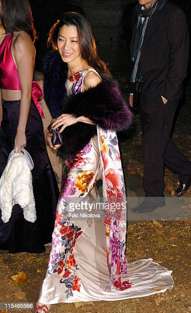 Michelle Yeoh during ''Casino Royale'' World Premiere After Show Party Outside Arrivals at Berkeley Square in London Great Britain