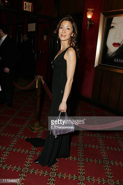 Michelle Yeoh during Columbia Pictures' New York City Premiere of 'Memoirs of a Geisha' at Ziegfeld Theatre / The Central Park Boathouse in New York...