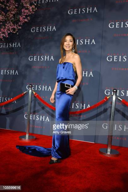 Michelle Yeoh during 'Memoirs of a Geisha' Los Angeles Premiere Red Carpet at Kodak Theatre in Hollywood California United States
