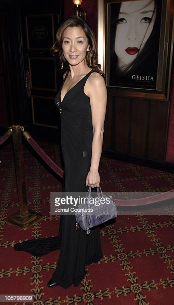 Michelle Yeoh during 'Memoirs of a Geisha' New York City Premiere Inside Arrivals at Ziegfeld Theater in New York City New York United States