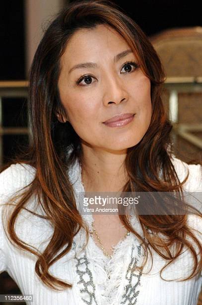 Michelle Yeoh during 'Memoirs of a Geisha' Press Conference with Michelle Yeoh and Gong Li at Waldorf Astoria Hotel in New York City New York United...
