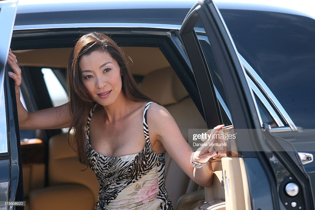Michelle Yeoh Leaving Roberto Cavalli's Yacht in Cannes : News Photo