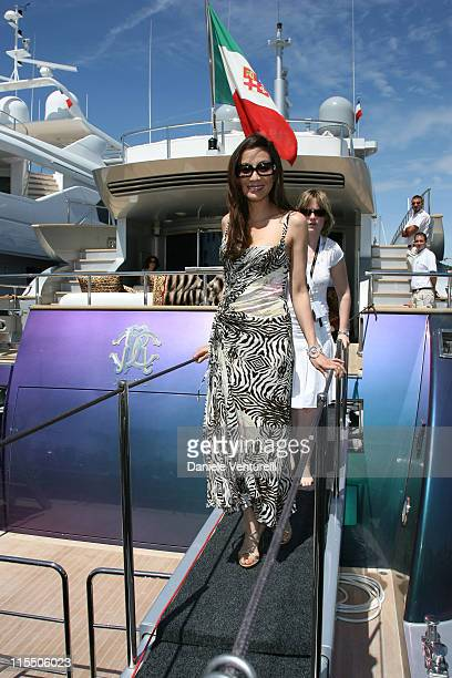 Michelle Yeoh during Michelle Yeoh Leaving Roberto Cavalli's Yacht in Cannes at Cannes Harbour in Cannes France