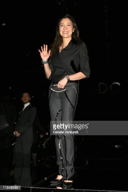 Michelle Yeoh during Milan Fashion Week Fall/Winter 2007 Dolce Gabbana Runway in Milan Italy