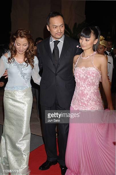Michelle Yeoh Ken Watanabe and Bai Ling during The Petronas Malaysian Grand Prix Ice Gala 2005 Arrivals at Mandarin Oriental Hotel in Kuala Lumpur...