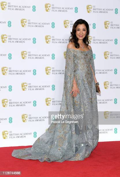 Michelle Yeoh poses in the press room during the EE British Academy Film Awards at Royal Albert Hall on February 10 2019 in London England