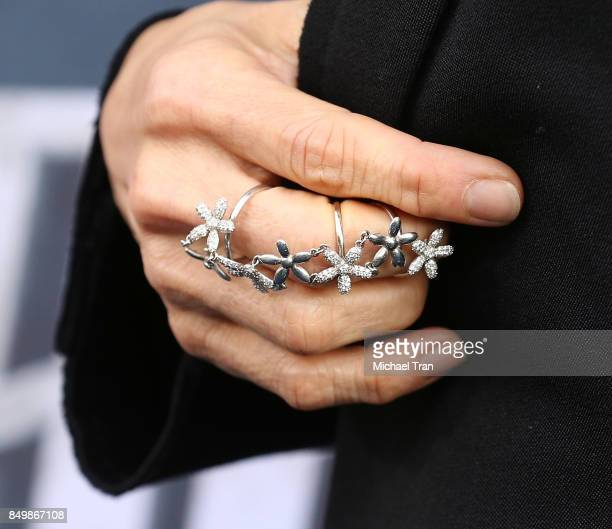 Michelle Yeoh ring detail attends the Los Angeles premiere of CBS's 'Star Trek Discovery' held at The Cinerama Dome on September 19 2017 in Los...