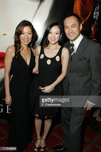 Michelle Yeoh Ziyi Zhang and Ken Watanabe during Columbia Pictures' New York City Premiere of 'Memoirs of a Geisha' at Ziegfeld Theatre / The Central...
