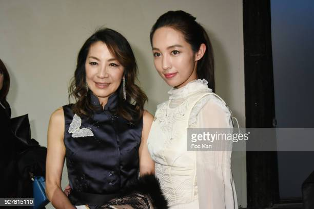 Michelle Yeohand a guest attend the Shiatzy Chen show as part of the Paris Fashion Week Womenswear Fall/Winter 2018/2019 on March 52018 in Paris...