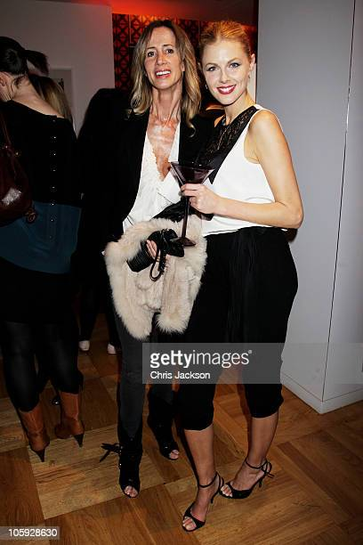 Michelle Young and Donna Air attend the launch party for the Dita Von Teese designed limited edition 'My Private Cointreau Coffret' at Selfridges on...