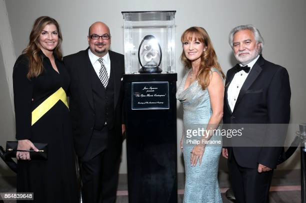Michelle Zuiker Anthony E Zuiker Jane Seymour and David Green at Jane Seymour And The 2017 Open Hearts Gala at SLS Hotel on October 21 2017 in...