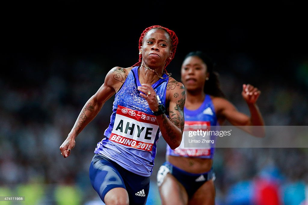 Michelle-Lee Ahye of Trindad and Tobago competes in the Women's 100 metres during the 2015 IAAF World Challenge Beijing at National Stadium on May 20, 2015 in Beijing, China.
