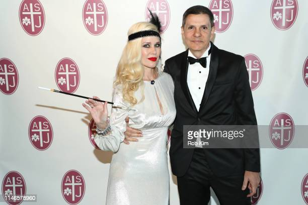 Michelle-Marie Heinemann and Delson Ferreira Coelho attend the Academy of Saint Joseph - F. Scott Fitzgerald Gala 2019 at Glasshouse Chelsea on May...